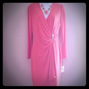 Calvin Klein orange wrap dress size 8
